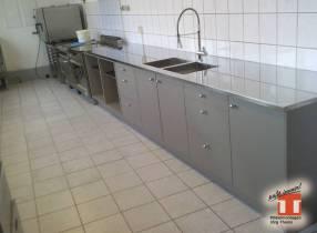 Küchen-Unterbau mit Edelstahl Küchenplatte für Gastro Küchen - Chemnitz