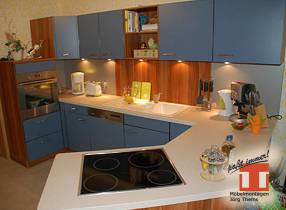 maßgeschneiderte offene Küchen-Möbel mit Ceranfeld frei im Raum