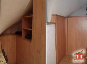 Ungenutze Nischen mit schrägen Wänden sinnvoll verwenden.